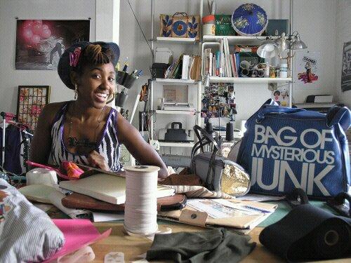 Chanel at her Junkprints studio
